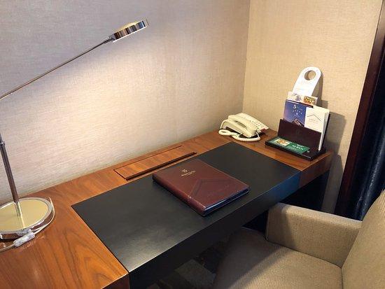 Desk in standard double room