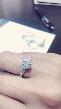 My engagement ring from heera diamonds Hatton garden