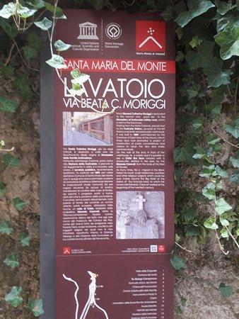 Santa Maria del Monte, Italia: L'insegna del lavatoio