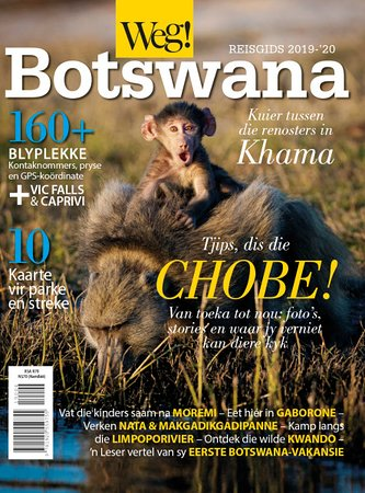 Surprise!  This incredible image of a baby baboon caught the attention of the team at WEG! Magazine and is featured as the cover of their latest Weg! Botswana-gids 2019/20.  Chobe National Park. Botswana.  Image by Pangolin Photo host Danielle Carstens Wildlife Photography   NIKON D750 Focal length: 300mm⁠ ISO: 1000 F-stop: f/4 Exposure time: 1/2500 sec  Weg-tydskrif   #wearechobe #botswana #naturephotography #wildlifephotography #photosafari #nikon #nikonwildlife #nikonartists #DanielleCarstens