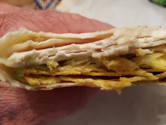 Belpre, OH: Second crunch wrap, you can actually see lettuce in this one!