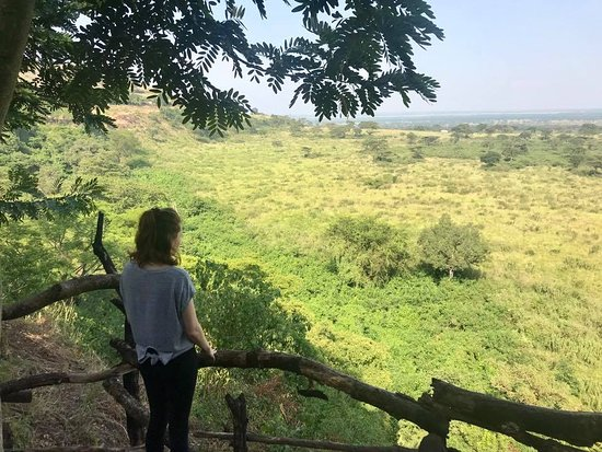Enjoying the magnificent sight of Kyambura gorge at Queen Elizabeth National Park
