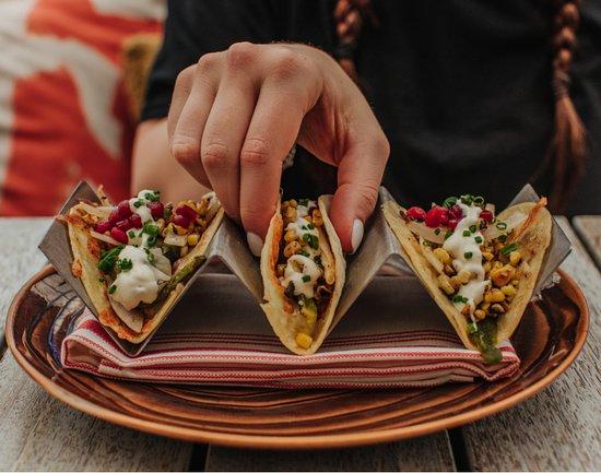 Rajas con Queso Tacos