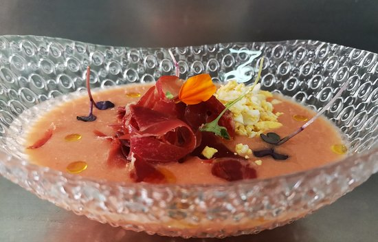 Viladecavalls, Spania: Salmorejo cordobés platos menú diario