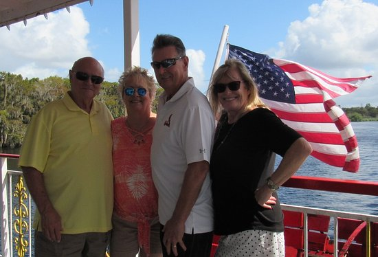 Four great friends enjoying the day on The Barbara Jean