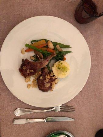 Main course of lamb chops