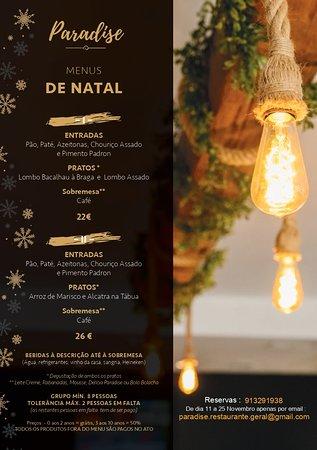 Lavra, Portugal: Menus Natal