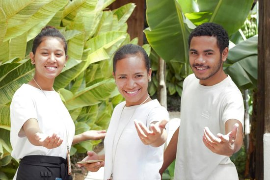 """Aileu District, Øst-Timor: Come to Aileu and enjoy our organization! You'll be able to eat some delights from our little restaurant and be enchanted by our gift shop! All art and craft products are made by our young people, emphasizing the """"beautiful"""", but seriously caring for the environment!"""