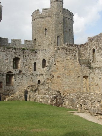 A View of one of the Towers from the courtyard of Bodiam Castle