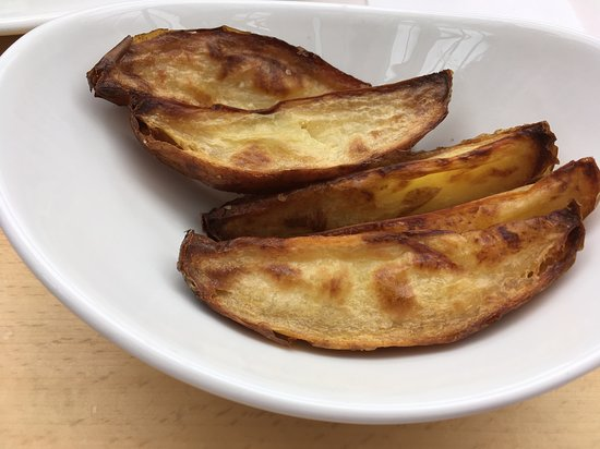 """£2.25 worth of National Trust potato wedges, or more precisely, """"2/3 of a potato wedges""""."""