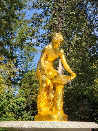 Beautiful statuary and fountains all throughout the gardens.