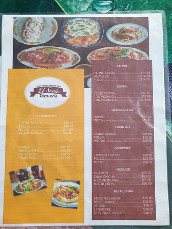 El Socio Taqueria menu 2/2