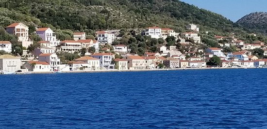 This is one of the first views we got after getting out of the channel at the marina in Lefkada. Not a bad start to the trip!