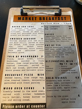 Redwood Pizza Breakfast Menu