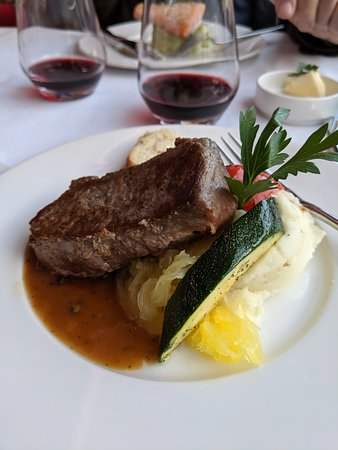 Delicious, first-class meals beautifully presented and served with wine if desired.