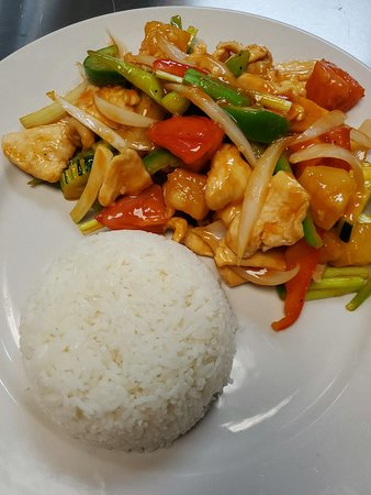 Sweet and sour stir-fried