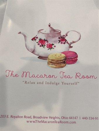 The Macaron Tea Room: menu