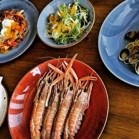 Porchetta - SCURO Caffè - Scampi - Asparagus Sweet Pea RISOTTO smoked oysters - gift voucher - Fusillone Mussels - Spaghetti Vongole -