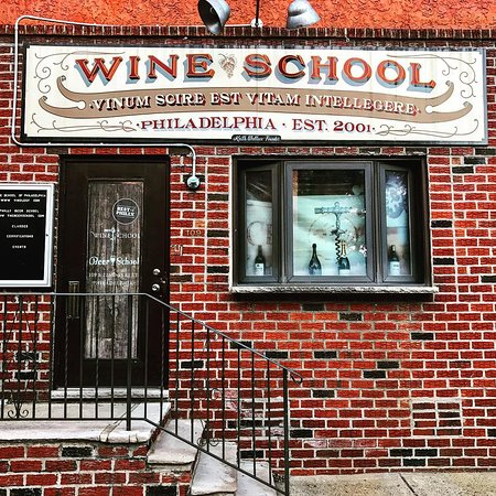 The front of the wine school