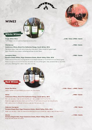 Wines selected from around the world.