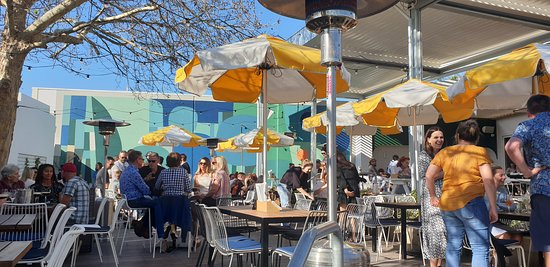 Outside seating - great in warm weather