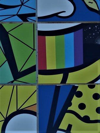 Détail de la fresque du puzzle