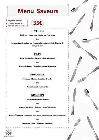 Venez découvrir notre nouveau menu saveurs