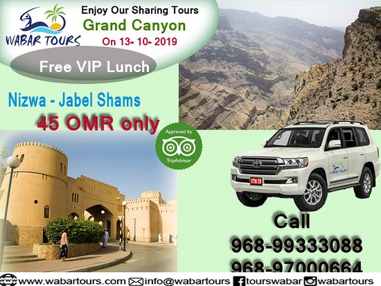 Franciaország: Every day sharing tours from Muscat . Free pickup and drop off, English speaking guide, free lunch , water and softdrinks.. Only 45 OMR........call us