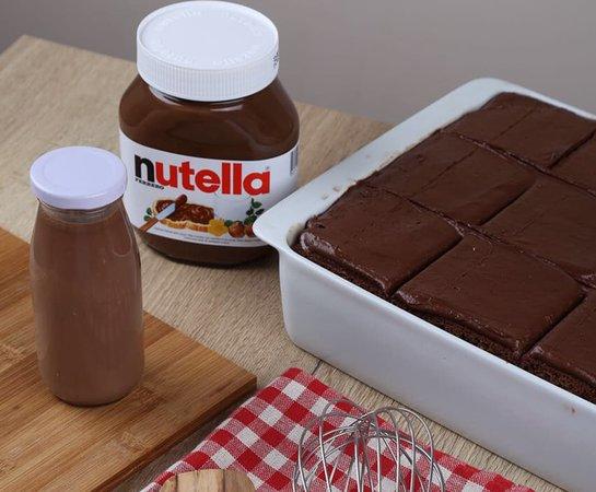 NUTELLA MILK CAKE