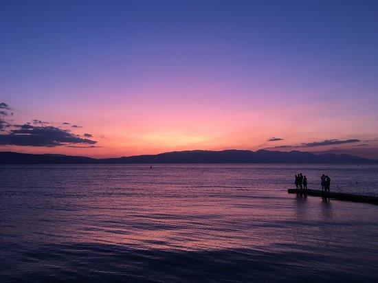 Prachtig uitzicht, zonsondergang