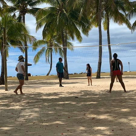 Beach volleyball at the resort