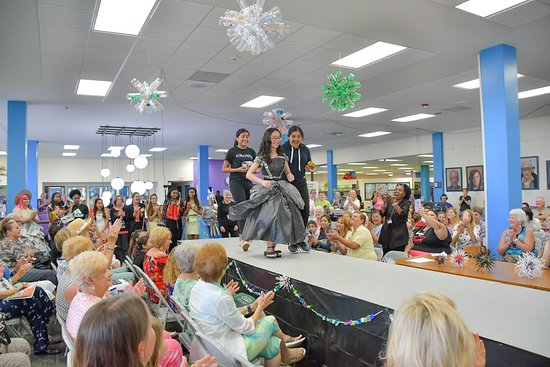 Downtown Library hosts several big events, including our popular annual Recycled Dreams Teen Fashion Show
