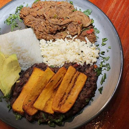 For lunch order a plate of Pabellon a classic Venezuelan dish!!!