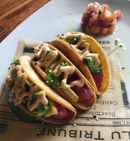 Tuna Poke Tacos