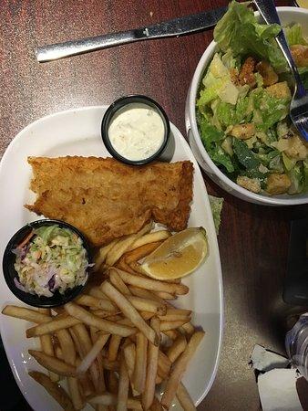 Haddock w/fries and Caesar.