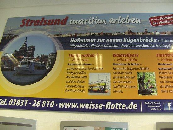 In der Tourist Information, in Stralsund....