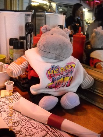 Just my hippo.  Note that the table is a tad small.
