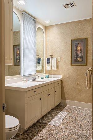 Rex Room Bathroom - Vanity area shown.  Walk in Shower on opposite wall.