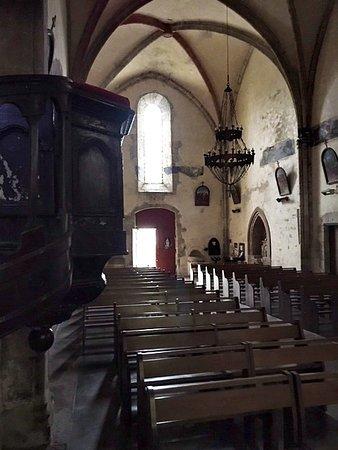 Inside the church opposite