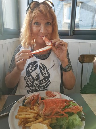 homard bleu rouge de honte