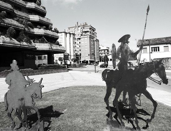 Siluetas de Don Quijote & Sancho Panza