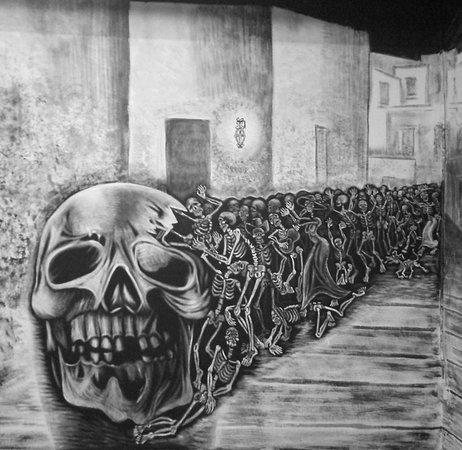 Mural in basement