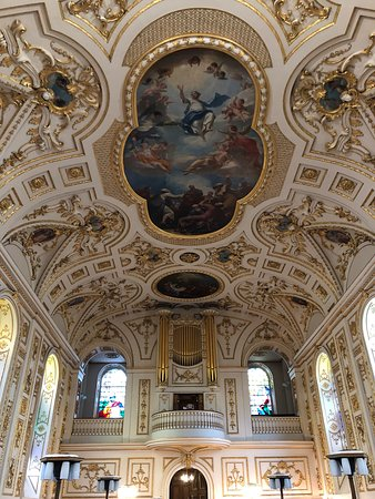 Great Witley, UK: ceiling in the adjoining church building