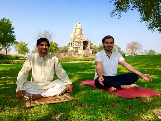 Yog with Yudhishthir my friend from Brussels Belgium