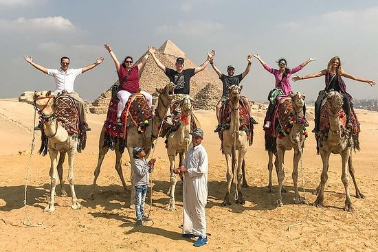 PYRAMIDS OF GIZA WITH CAMEL RIDE AND THE EGYPTIAN MUSEUM TRIP