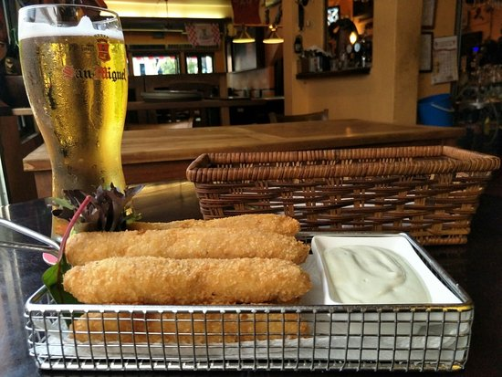 A cold beer and salmon stick; how to better start a relaxing evening