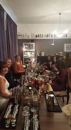 The newly established 'cocktail making class' at Juniper Tap/Tap & Tonic Grantham. Oct 12 2019