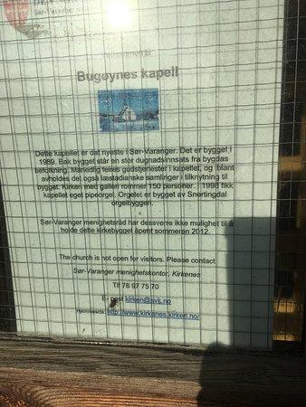 Bugoynes, Norvégia: Info