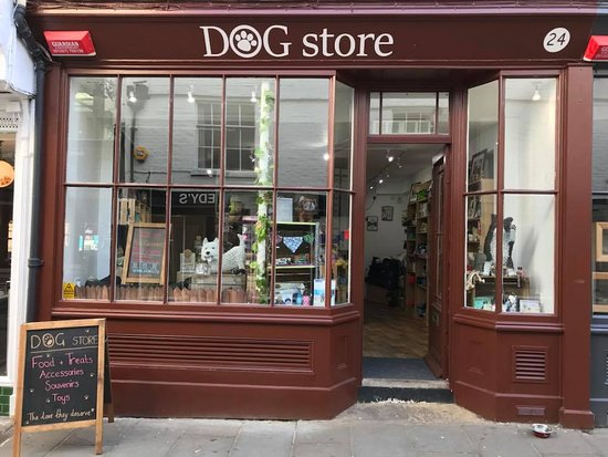 Canterbury, UK: The store front.