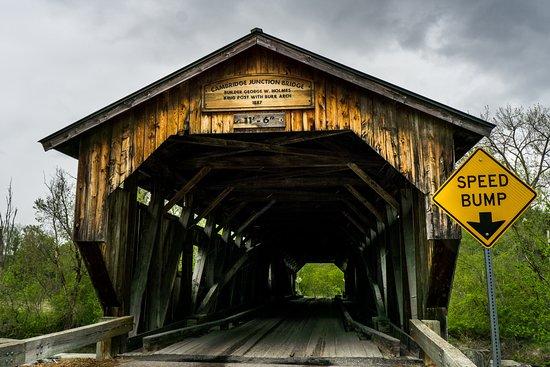 Cambridge Junction Covered Bridge: Pont couvert